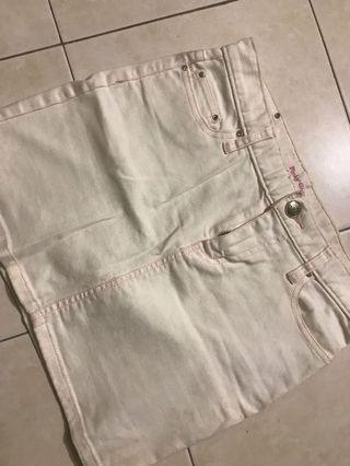 Pink white skirt
