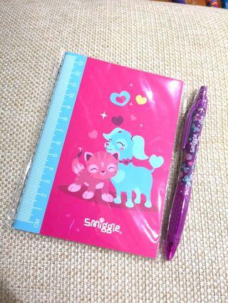 🌈 SMIGGLE Note Book + Pen