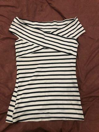 DOROTHY PERKINS Stripped Shirt Top