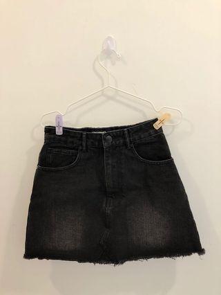 Cotton On Black Denim Skirt