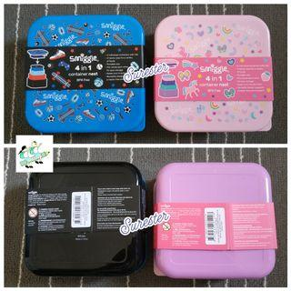 Smiggle 4 in 1 Container Nested Lunchbox set - Tempat Makan Smiggle