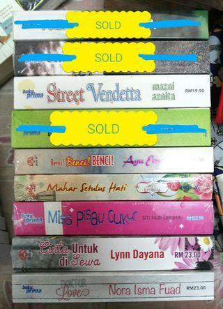 Novel Melayu pelbagai tajuk (buku baru)