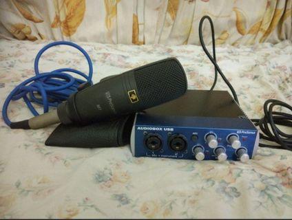 PreSonus Audiobox Set ( Interface + Mic M7)