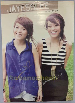 Jayesslee (Sonia & Janice Lee) Hand Signed Poster