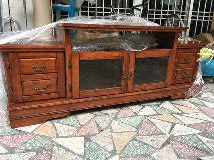 Solid wood tv cabinet and drawer