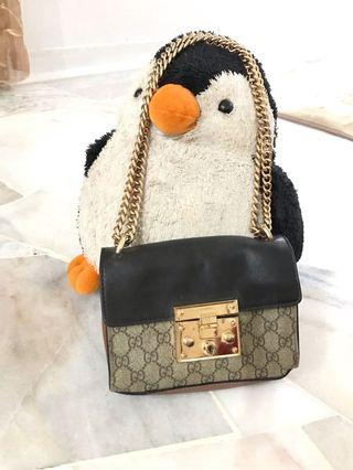 Gucci padlock GG supreme shoulder bag