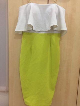 Fit Pencil Dress Green / Yellow