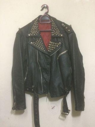 80s Punk Leather Jacket