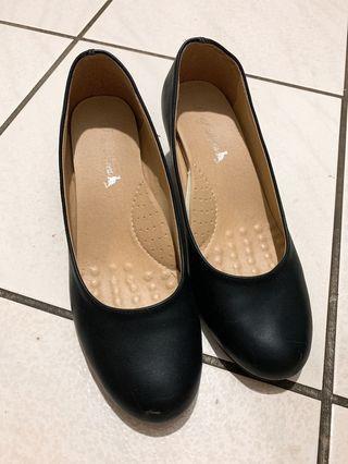 D+af 超軟Q黑粗跟制鞋