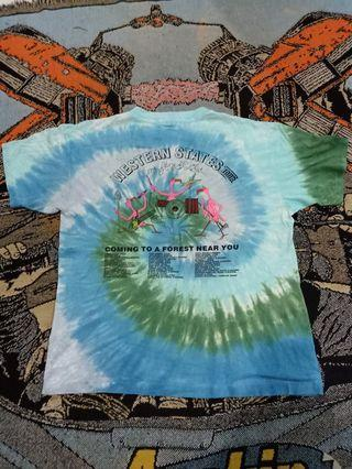 Vintage shirt 90s tyedye flame in go,s