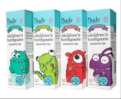 Buds -  Children's Toothpaste With Xylitol 50ml ( suitable kid for 1-3 years)