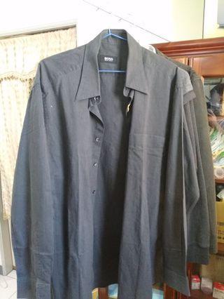 Boss鐵灰色襯衫兩件