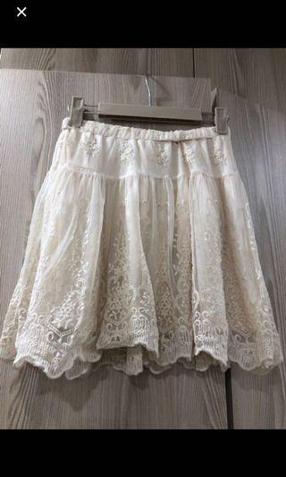 NET蕾絲短裙
