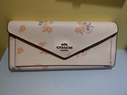 《二手》COACH 粉色浪漫 信封式長夾 (含運)
