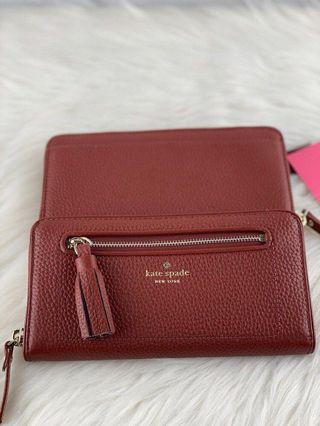 Kate Spade Chester Wallet in Port Brown