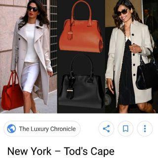 Tods時尚灰色大包