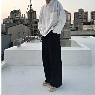 【二手】YU SELECT-優選 BEN DAVIS 30腰美製黑色重磅寬直筒工作長褲