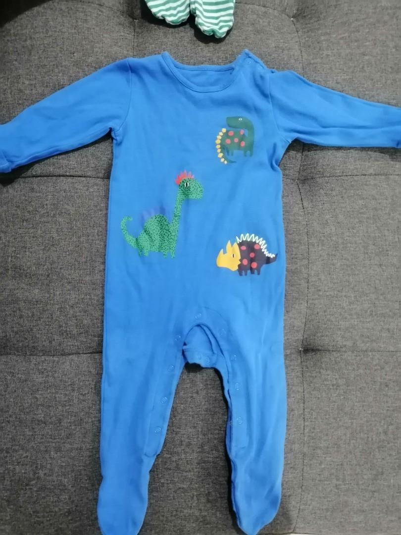 [Subsidize 📨] 3 pack Pure Cotton Dinosaur's Sleepsuits / baby sleepsuits