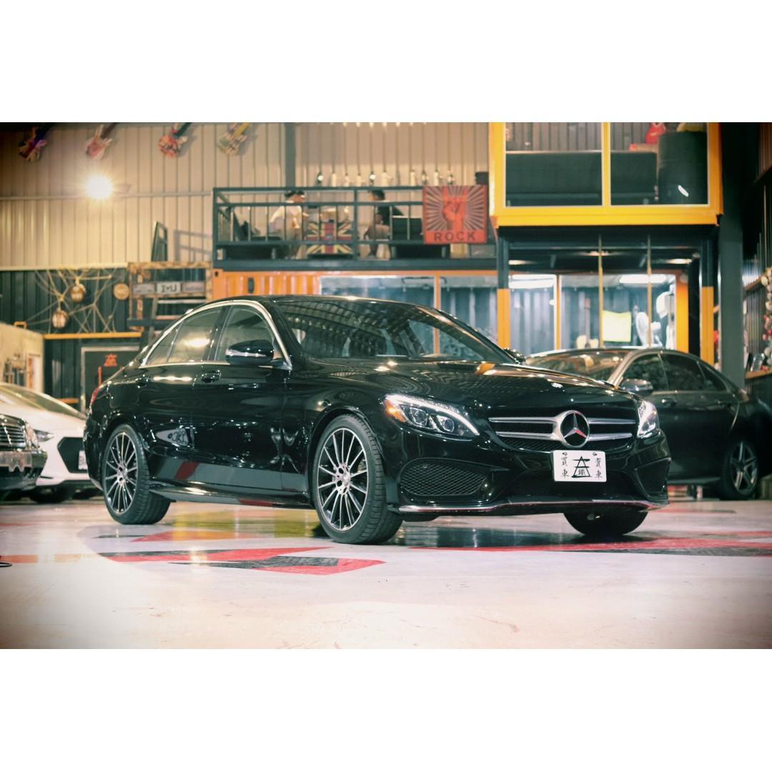 #鐵三角車業 2015 C300 AMG 雙魚眼頭燈 #未領牌  #豪滿足配備 #94要黑色阿 #新車利率 #有的人看一台買不到 #看五台就買到了