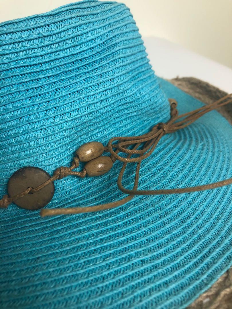 編織遮陽帽 鄉村風