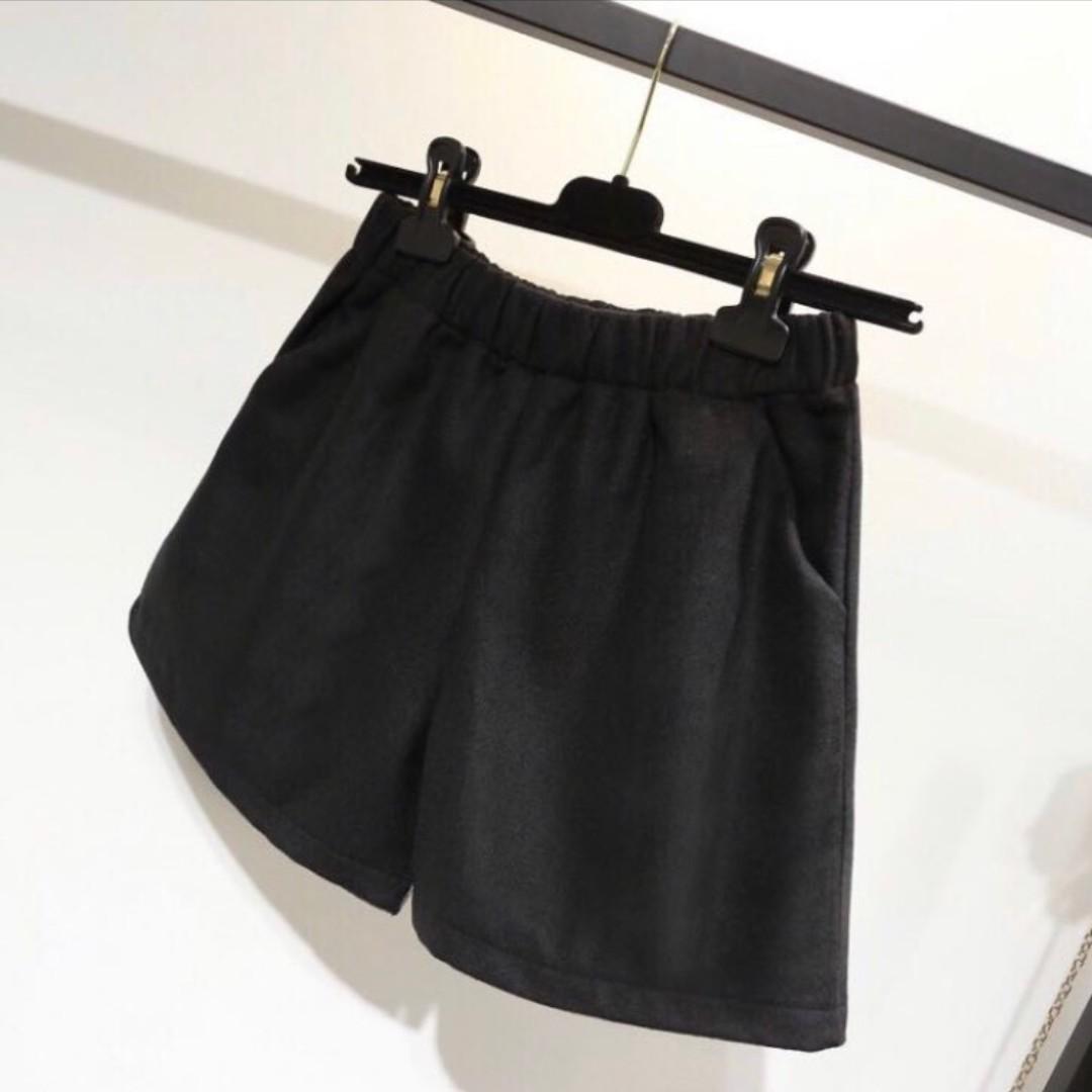 現貨 短褲 闊腿褲 冬季短褲