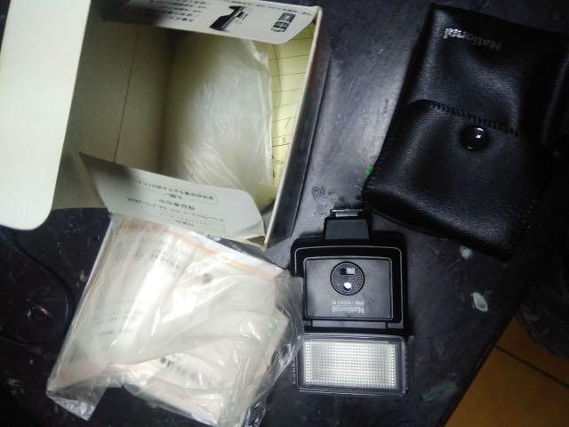 閃光燈 古典 底片 單眼相機 用 national PE 200s 美品 無電池 含配件