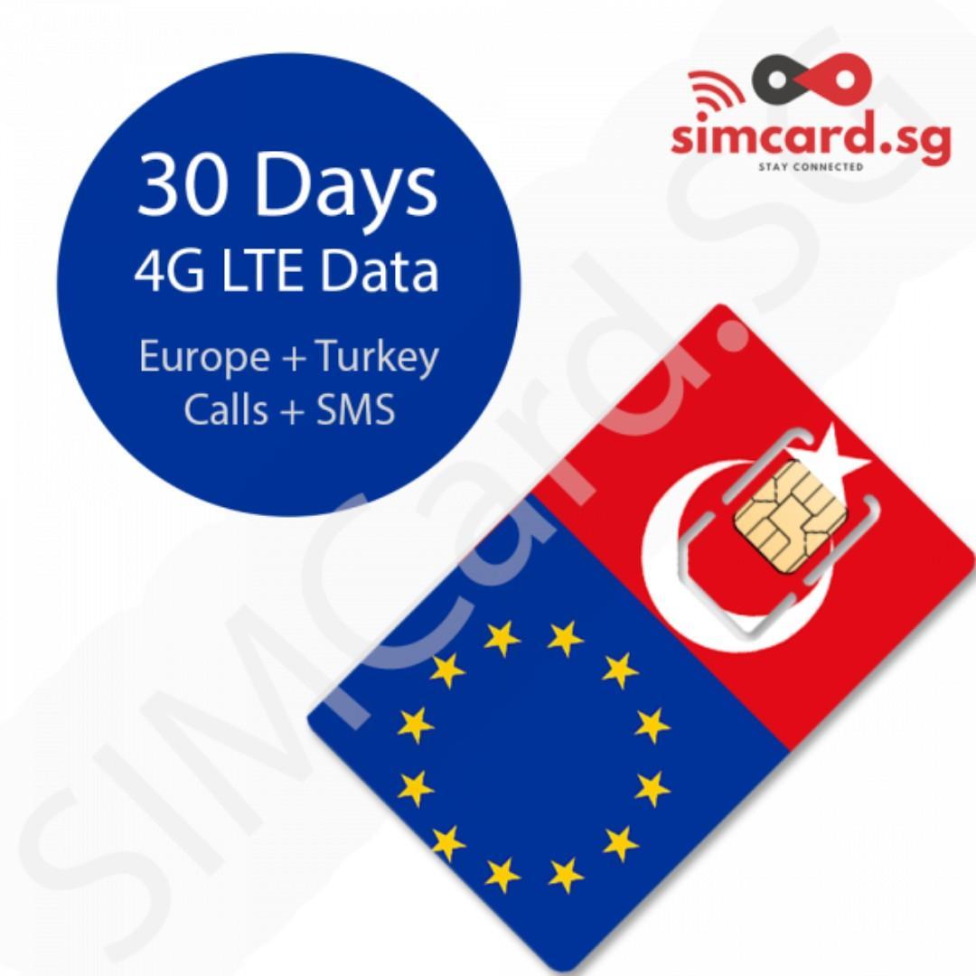🇪🇺 Europe / Turkey / United Kingdom Roaming SIMCARD (European Union, UK, France, Germany, etc.) Prepaid SIM Card by SIMCARD.SG #MRTBishan