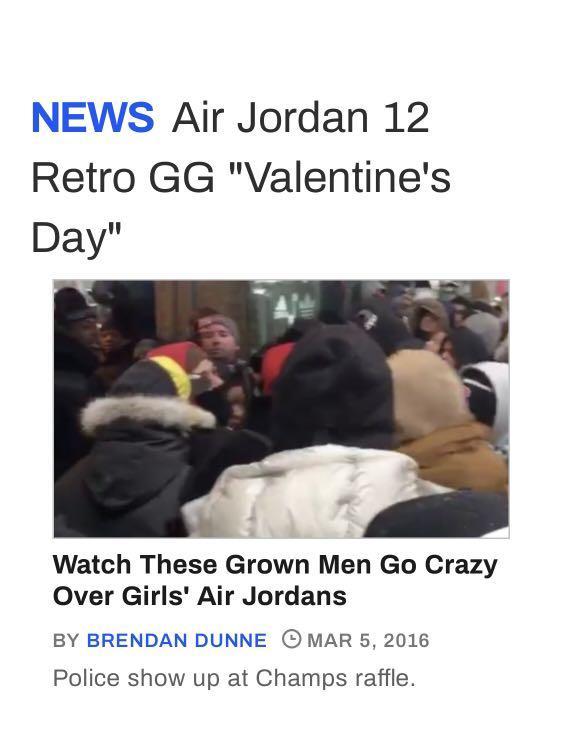 AIR JORDAN 12 RETRO GG - VALENTINES DAY EDITION.   *AUTHENTIC*