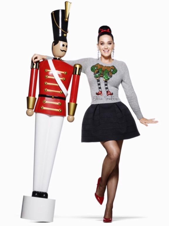 Alpaca Blend Elfie Selfie Christmas Holiday Sequin Sweater