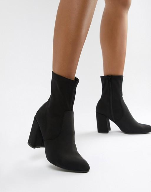 Asos Black Heeled Boots