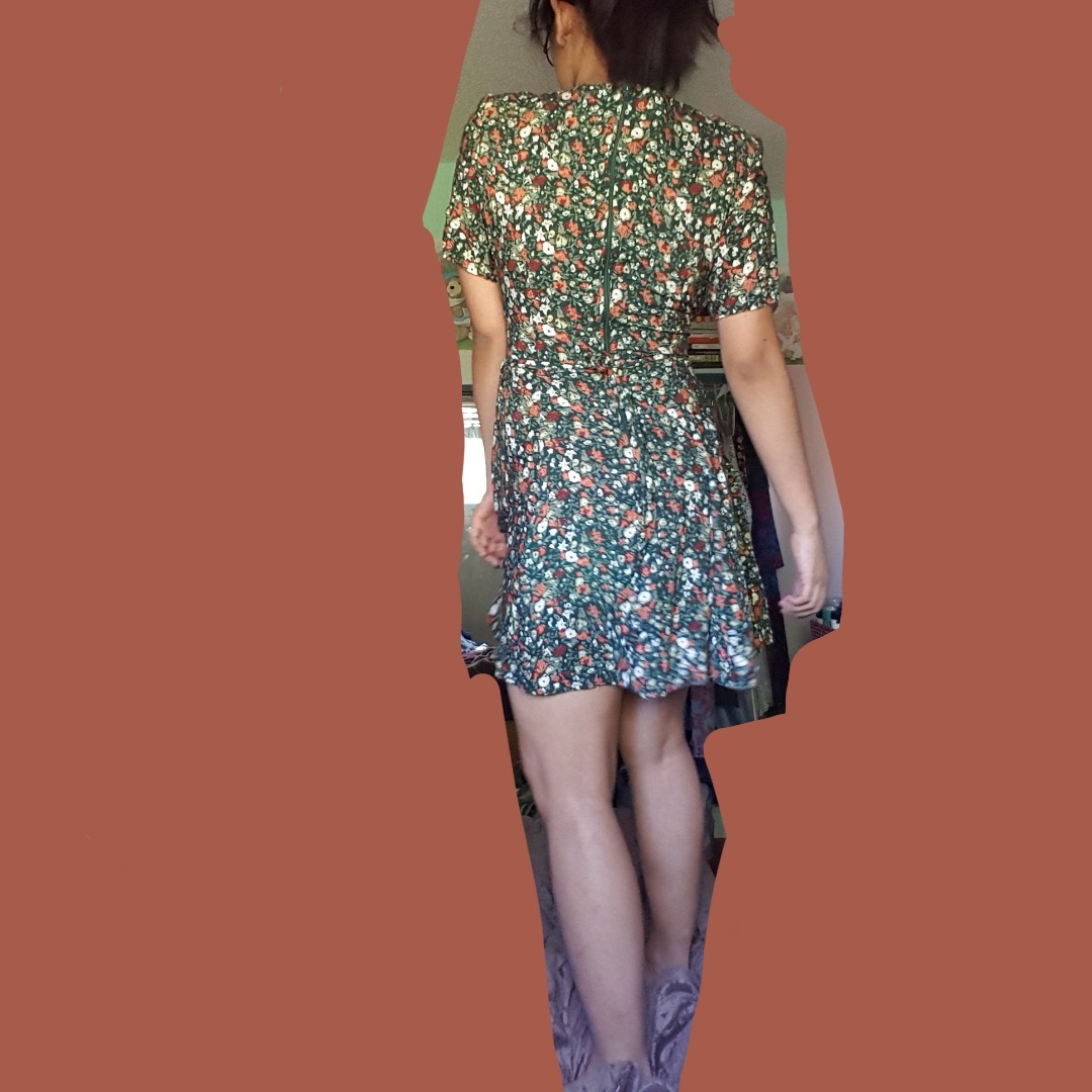 authentic prima donna sportswear green floral dress