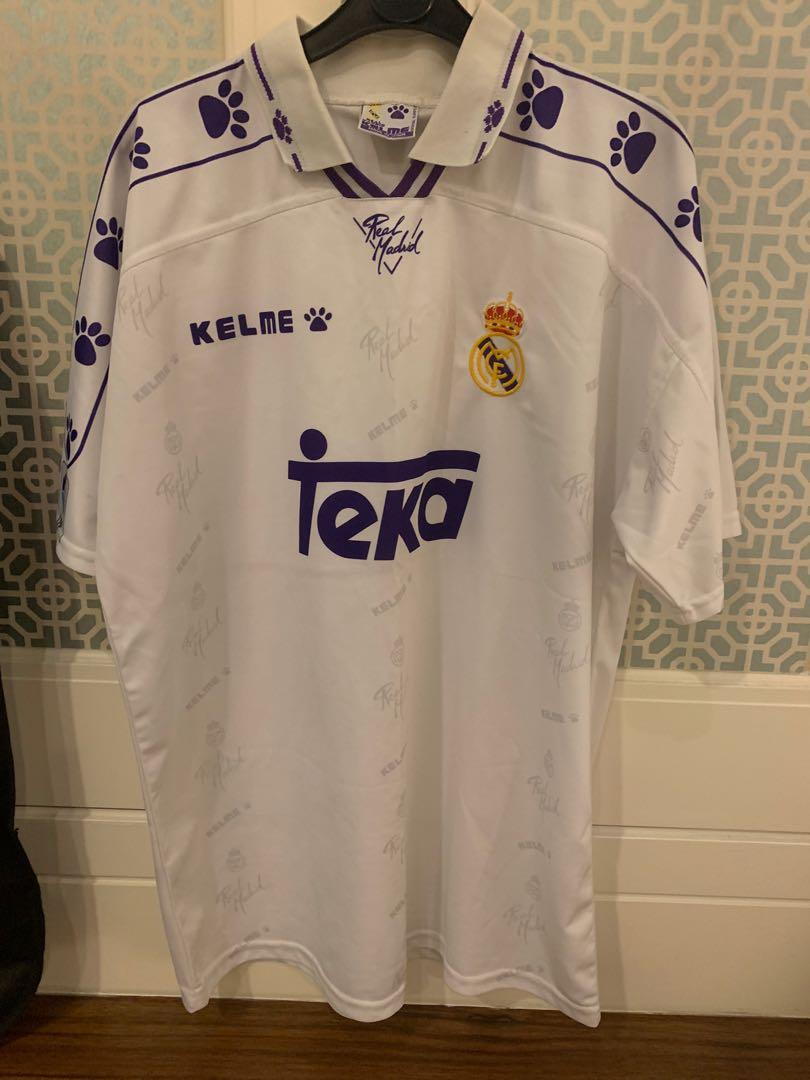 Authentic Real Madrid 1996 home jersey
