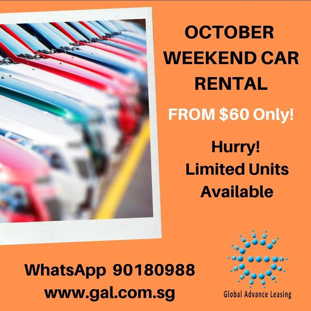 From $60 Car rental weekend promotion special rate