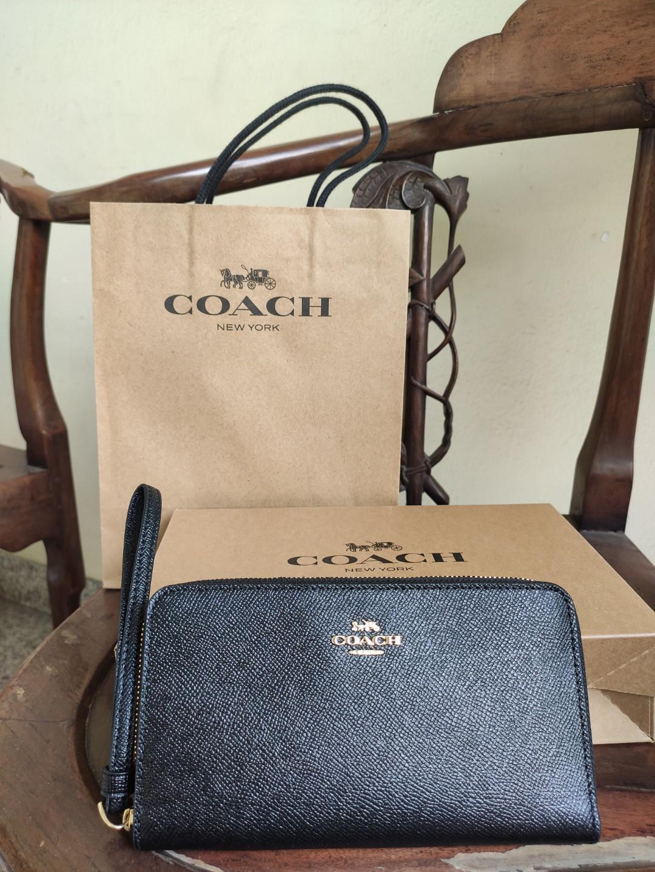 Coach Wallet / Dompet (Black / hitam) with strap - Brand New SALE & original