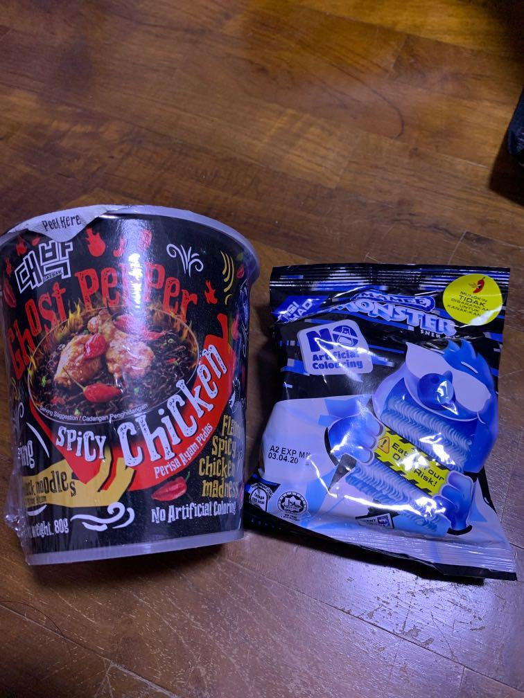 Daebak Ghost Pepper Instant Noodle + Mamee Ghost Pepper Snack