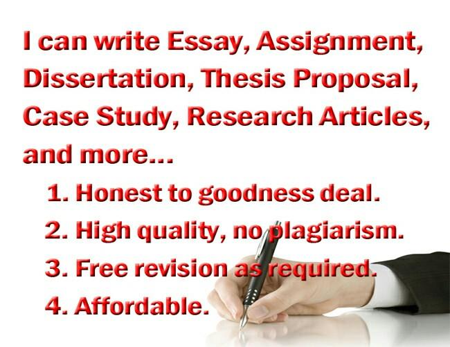 Essay Assignment Research Case Study Article Writer Thesis Proposal etc