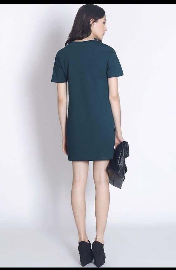 Fayth Carter Dress in Forest - Size XS