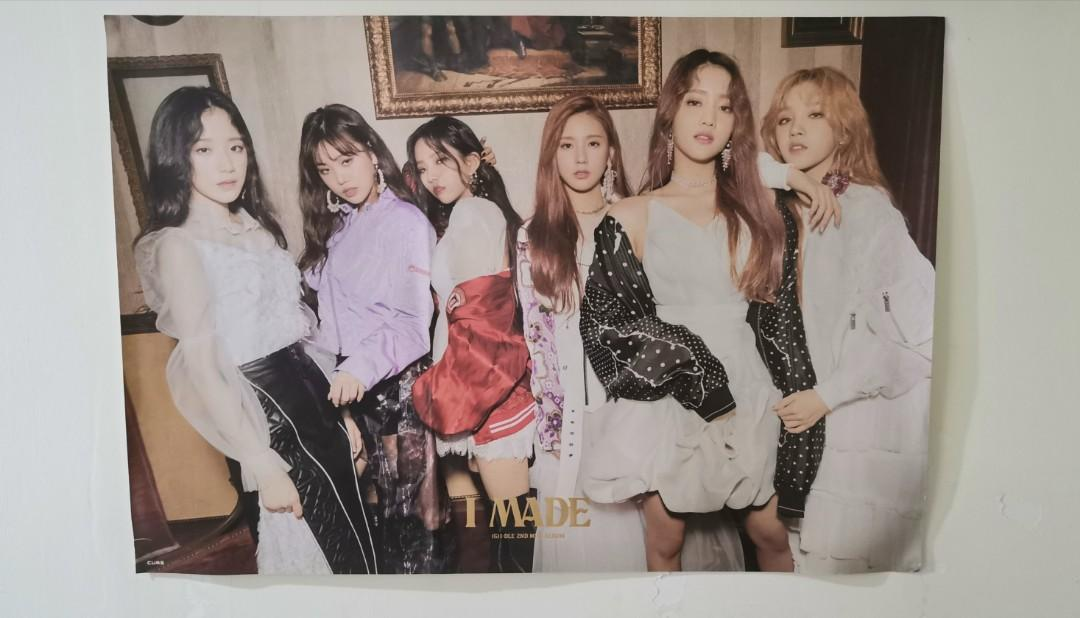 (G) I-DLE 2nd Mini Album I MADE Official Poster