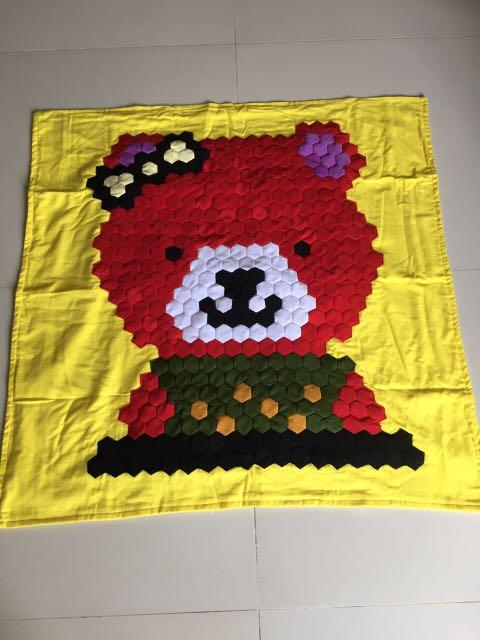 Handmade Patchwork Blanket For Kids/手工缝制小孩百家被