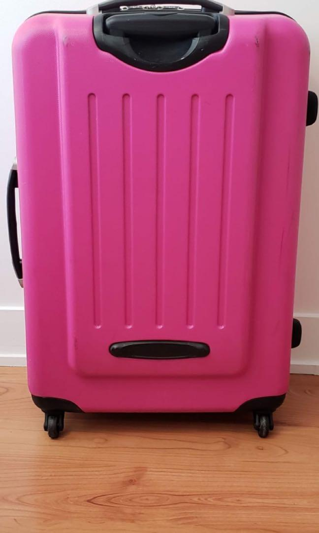 "Heys Hot Pink Large 30"" Hardcover Luggage"