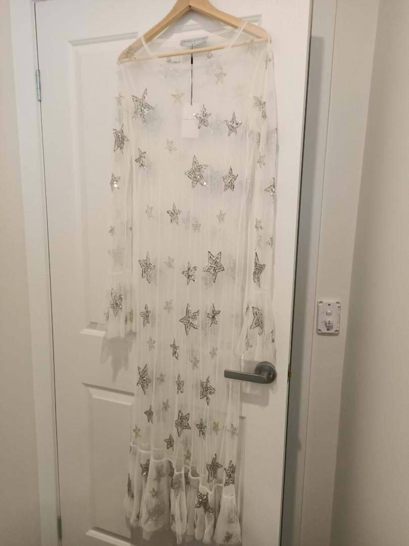 Isabelle Quinn size 10 emie mesh dress RRP $340 BNWT