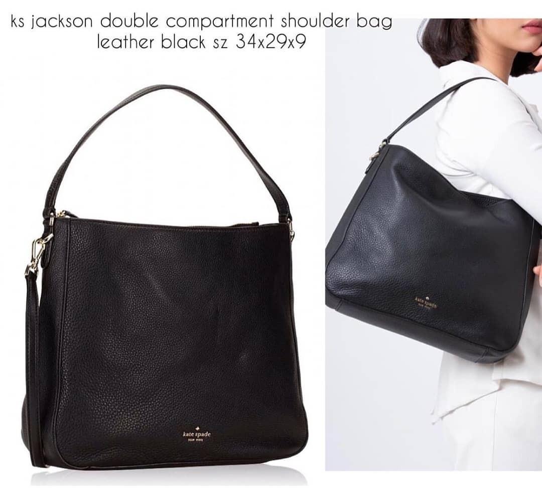 Kate Spade Jackson Double Compartment Shoulder Crossbody Bag 34×29×9