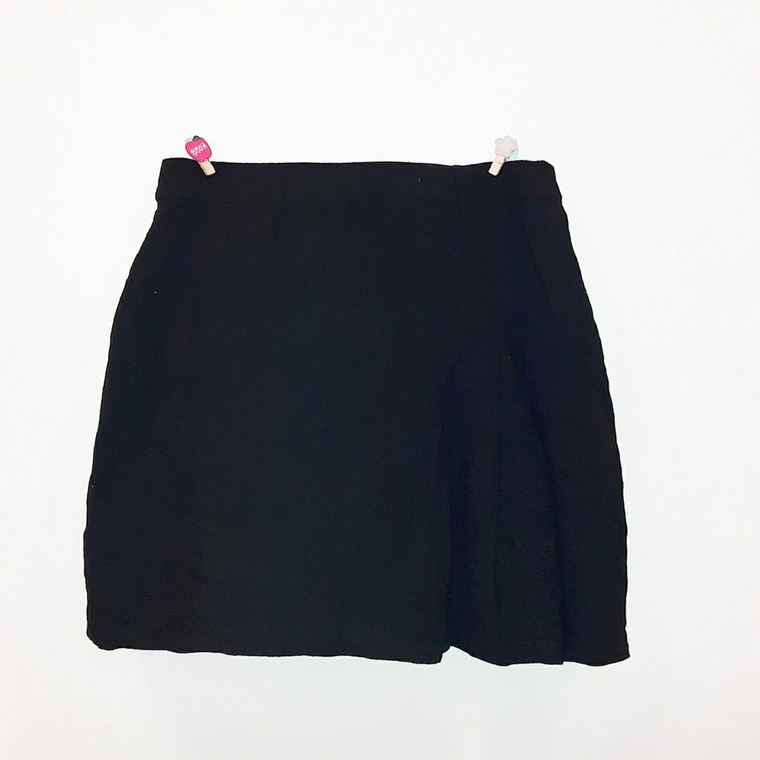 Korean black tennis skirt