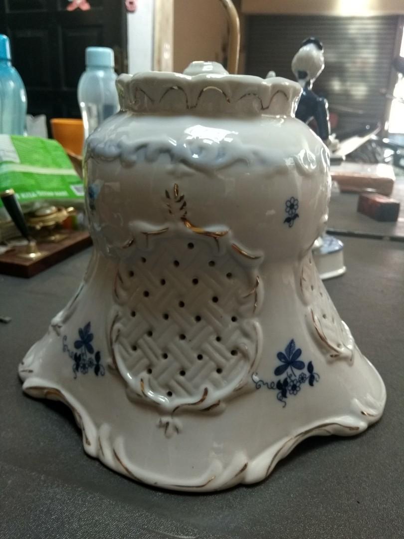 Lampu antik keramik model eropa