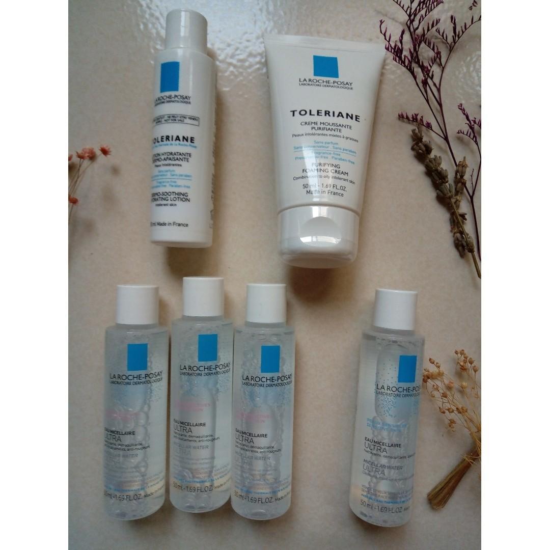 LAROCHEPOSAY 理膚寶水 潔膚水 化妝水 卸妝水 洗面乳 全面修護霜 50ML