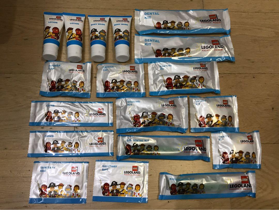 Legoland hotel resort 黑山馬來西亞樂高樂園酒店 洗頭水沐浴露護髮素牙刷旅行套裝 travel kit 全新 new lotion shampoo lego brick