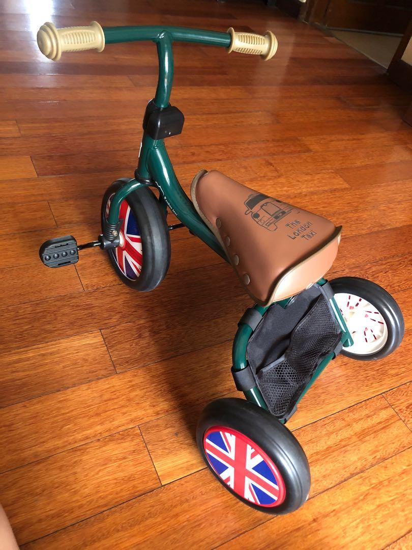 London Taxi Bike Toddler Hijau