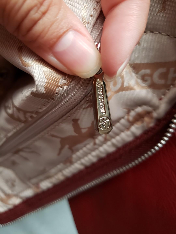 longchamp 羊皮手袋