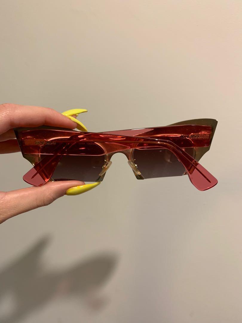 miu miu  silver pink half rim Sunglasses celine Gucci Chanel balenciaga prada Zimmermann rat boa l and & Alice McCall Louis Vuitton