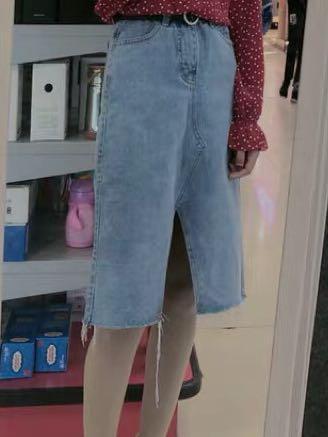 Old school midi skirt (jeans)